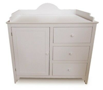 Baby Changing Table Dresser Drawers, White
