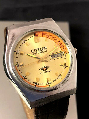 CITIZEN Vintage Herren Armbanduhr - Automatic - 21 Jewels Top Zustand neues Band