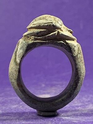 Circa 715-332Bc - Beautiful Ancient Egyptian Stone Scarab Ring - Nicest Example