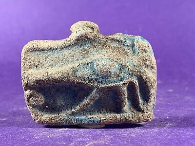 Circa 1075-332Bc - Beautiful Ancient Egyptian Glazed Faience Eye Of Horus Amulet