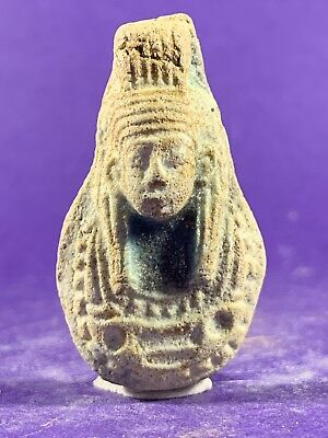 Circa 1075-332Bc - Beautiful Ancient Egyptian Stone Pharaonic Bust Amulet
