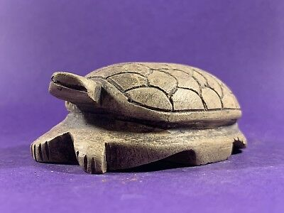 Museum Quality Circa 990-332 Ancient Egyptian Stone Turtle Statue W/hieroglyphs