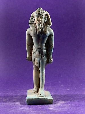 Very Beautiful - Circa 1370-770Bce Ancient Egyptian Pharaoh Standing Statuette