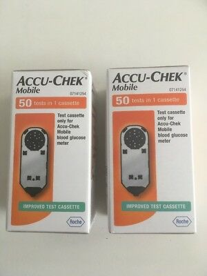 100 2x50 Accu-Chek Mobile Cassette Tests Strips **GREAT EXPIRY, 03/20