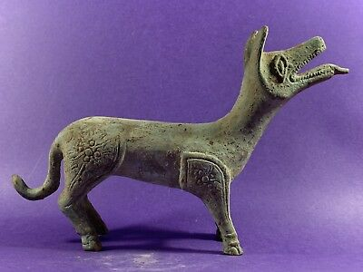 Circa 224-648- Big & Heavy Ancient Sasanian Bronze Animal Statuette With  Detail