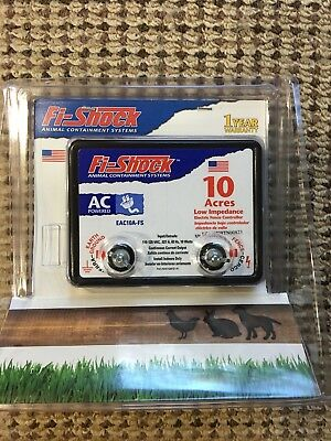 Fi-Shock EAC10A-FS Electric Fence Energizer Up To 10-Acre New In Box