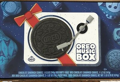 NEW!! Oreo Music Box Cookie Record Player Collectible Gift Tin
