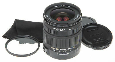 Sigma 18-50mm f/2.8-4.5 DC OS HSM Lens For Canon +UV filter +caps *good condit.*
