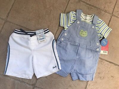 BNWT Baby Boys Shorts & Dungarees 3-6m