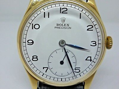 Vintage Gents 1949 Rolex precision solid 9ct gold real nice time piece ( L@@K )