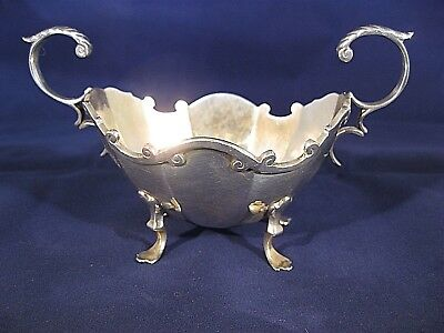 A late Victorian scottish solid silver two handle dish Glasgow 1898 .