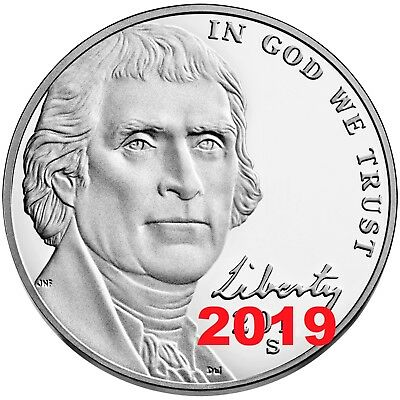 2019 S Proof Jefferson Nickel 5c Gem Deep Cameo from US Mint Set