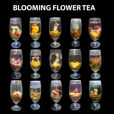 10pcs/ 20pcs Assorted Handmade Chinese Green Blooming Flowering Flower Tea Ball