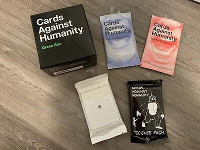 Cards Against Humanity - Base + 4 Expansion Packs (Elections*2+Internet+Science)