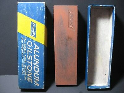 Vintage Norton Alundum Knife Sharpening Oilstone with orig. Box Whetstone