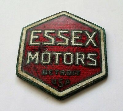 Essex Motors Detroit Usa Michigan Hood Ornament Emblem Logo 1918-22 Advertising