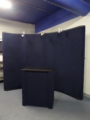 Nomadic Display Pop-Up Classic Trade Show Display 8'x10' W/ Tabletop & Lights