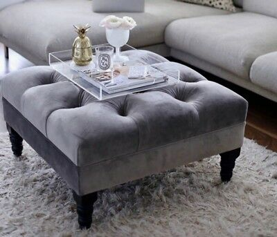 New large Chesterfield Style deep Buttoned Footstool/Coffee Table...