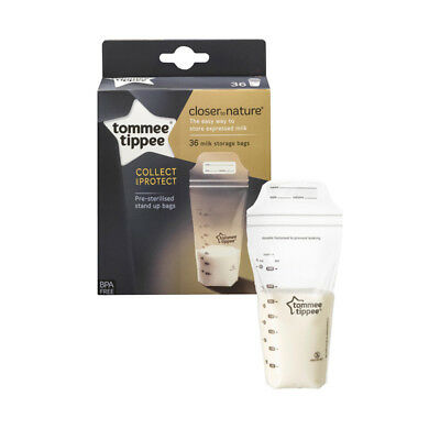 Tommee Tippee Breast Milk Storage Containers Bags BPA Free 350ml x36