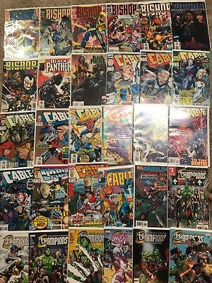 Lot Of 55 Marvel Comic Books Champions Cable Bishop And More