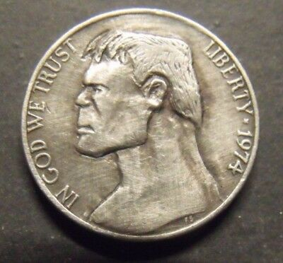 Hand Carved  Hobo nickel Hulk  unsigned