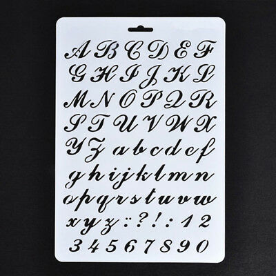 Lettering Stencils, Letter and Number Stencil, Painting Paper Craft Alphabet EV