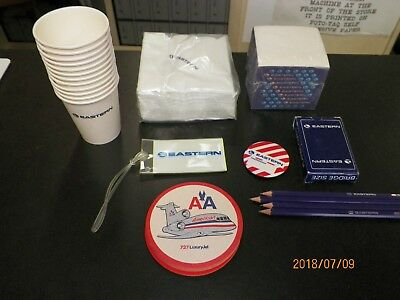 UNIQUE LOT OF EASTERN AIRLINES ACCESSORIES- 27 total items