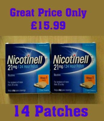 Nicotinell Step 1 Patches 21mg Only £15.99.