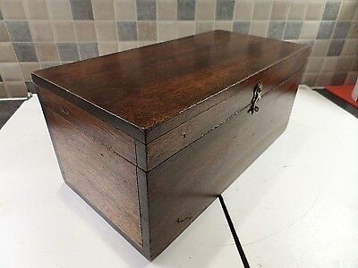 Edwardian Solid Mahogany Box Ideal For Desk Use Or Storage Of Chess Pieces