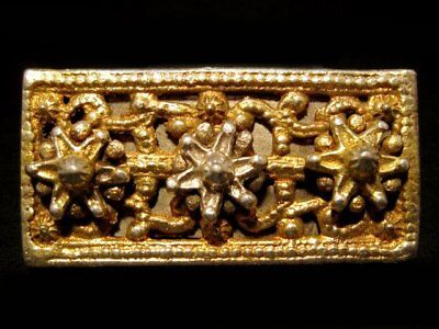 Choice Post Byzantine, Medieval Silver Gilt Mount Belt Decoration +++