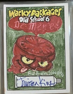 Topps Wacky Packages Sketch Card Old School Series 6 OS6 Jamison King DEMENTED