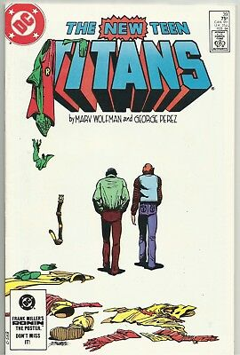 NEW TEEN TITANS #39 Solid NM Feb. 1984 Grayson's Final Issue As Robin! DC KEY!