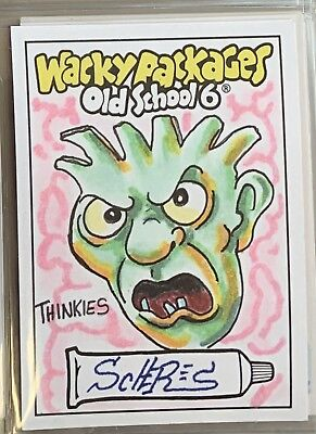 Topps Wacky Packages Sketch Card Old School Series 6 OS6 Chad Scheres HOSTILE