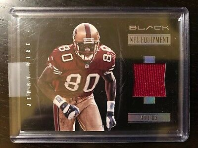 2012 Panini Black Jerry Rice Game Used Jersey Football Card /99 NFL equipment
