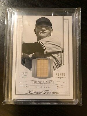 2015 Panini National Treasures Johnny Mize Bat Baseball Card /99 Yankees