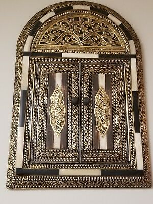 Authentic Moroccan Mirror Decor. Made Of Bronze And Camel Bones. New