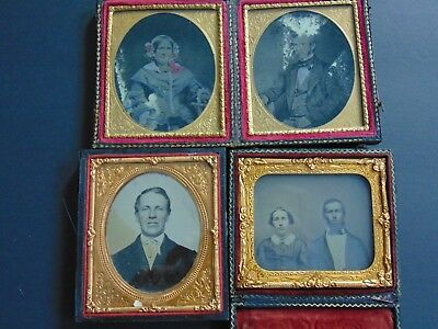 4  Antique Ambrotype Photographs - Wilbur / Husband Families
