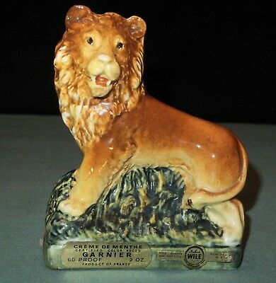 "Garnier Miniature  Liqueur Decanter Porcelain Bottle ""lion"""
