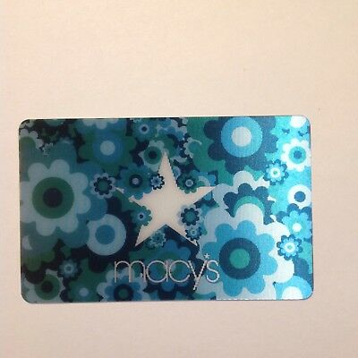 MACY'S Floral  lenticular Color change collectible trade NO VALUE swap GIFT CARD