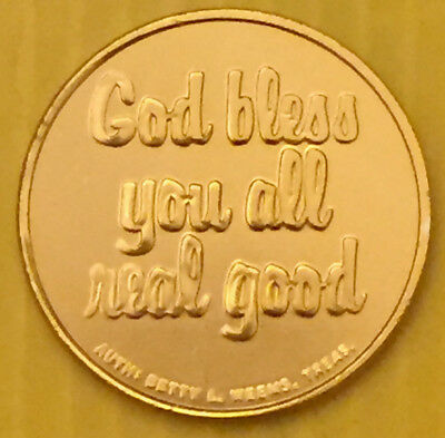 """Former Maryland Comptroller Louis Goldstein """"God bless you all real good"""" Coin"""