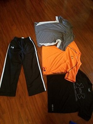 Boys xl Shirts Medium Warm up Pants Large top Under Armour Youth Athletic