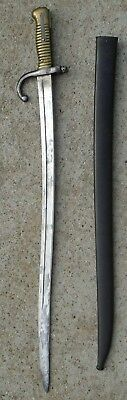1873 French Chassepot Bayonet w/Matching Scabbard-From St Etienne Arsenal-LOOK!*