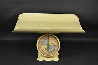 VINTAGE Unmarked Metal 30lbs Pound Baby Scale