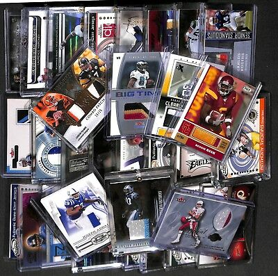 Nfl Dutch Auction Football Hot Pack! 5 Card Hot Pack! Guaranteed Auto/game Used!