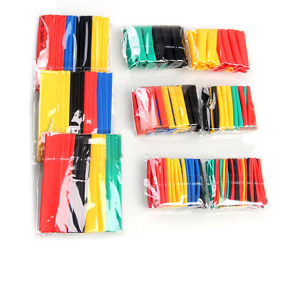 328pcs Polyolefin 2:1 Heat Shrink Tube Tubing Electrical Wrap Wire Sleeving Kit