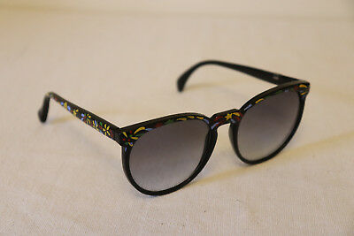 Vintage Ken Done Colorful Bright Painted Sunglasses 80s 1980s Floral Stars nonRx
