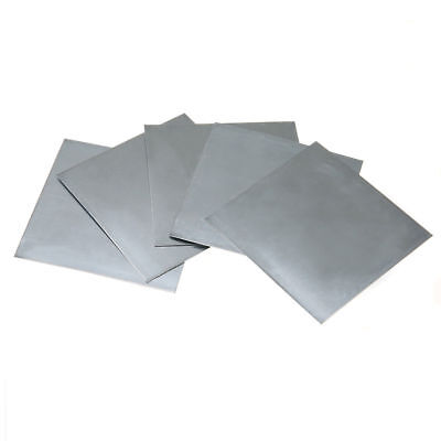 5Pcs High Purity 99.9% Pure Zinc Zn Sheet Plate Metal 100x100x0.5mm Science Lab