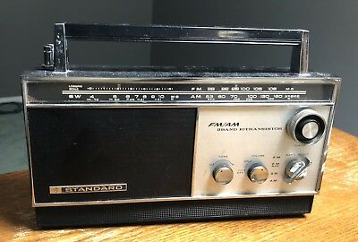 Vintage Standard FM/AM 3 Band 10 Transistor Radio, Model SR-J808FA