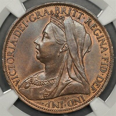 1898 Ngc Ms64Bn Great Britain Penny