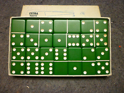 Vintage Puremco Extra Thick Dominoes Green 716 Made in Waco Texas
